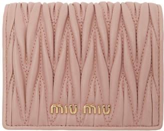 Miu Miu Pink Quilted Wallet