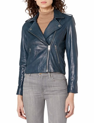 Lucky Brand Women's Core Leather Moto Jacket