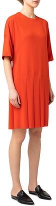 Akris Punto Pleated Shift Dress