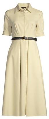Donna Karan Belted Fit--Flare Dress