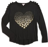 Menu Girl's Lattice Foil Heart Tee