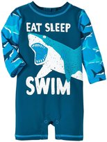 Hatley Great White Sharks Rash Guard (Baby) - Blue - 3-6 Months