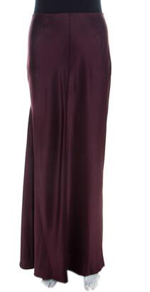 Joseph Aubergine Purple Satin Silk Theo Maxi Skirt M