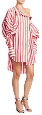 Monse Stripe Puff Sleeve Shirtdress