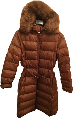 Moncler Long Brown Synthetic Coats