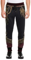 Dolce & Gabbana Military Trompe l'Oeil Sweatpants, Black