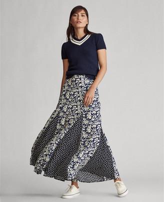 Ralph Lauren Paneled Maxiskirt