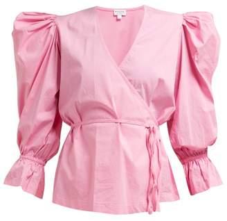 Rhode Resort Valentina Cotton-blend Wrap Top - Womens - Pink