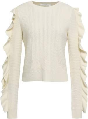 Philosophy di Lorenzo Serafini Ruffled Cable-knit Sweater