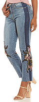 Buffalo David Bitton by David Bitton Ivy Two-Tone Embroidered Ankle Jeans