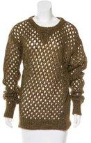 Isabel Marant Metallic Open-Knit Sweater