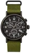 Timex Standard Chronograph Men's Green Fabric Strap Watch