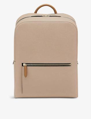 Smythson Panama zip-around leather backpack