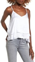 Leith Women's Satin Ruffle Tank