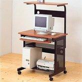Coaster Home Furnishings Coaster Computer Desk/Workstation With Sliding Keyboard Tray, Walnut/Black Finish