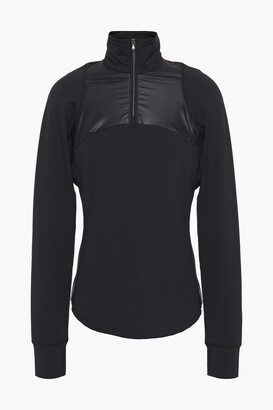 Erin Snow Coated Stretch-jersey Top