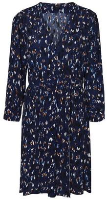 Dorothy Perkins Womens **Blue Long Sleeve Wrap Dress, Blue