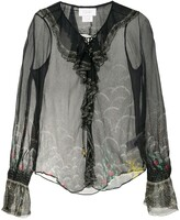 Thumbnail for your product : Camilla Silk Sheer Long Sleeve Blouse