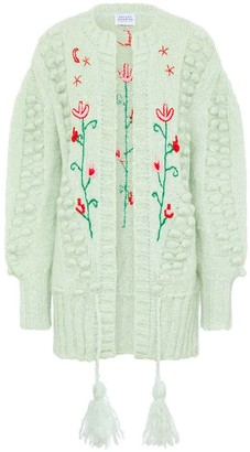 Hayley Menzies Gloria Embroidered Midi Cardigan