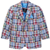 U.S. Polo Assn. Madras 2-Button Blazer (Little Boys & Big Boys)