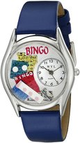 Whimsical Watches Women's S0430002 Bingo Royal Blue Leather Watch