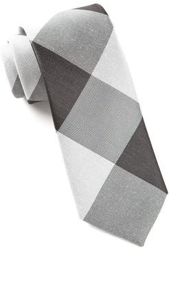 Tie Bar Bison Plaid Black Tie