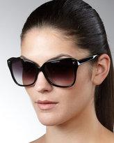 Faithful Squared Cat-Eye Sunglasses, Black