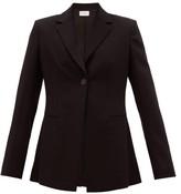 The Row Kiro Single-breasted Wool-crepe Jacket - Womens - Black