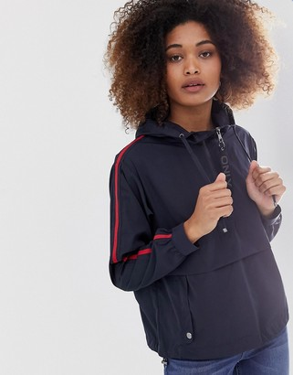 Only anorak with sports tape-Navy