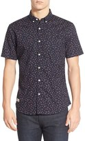 7 Diamonds Men's 'Editions Of You' Trim Fit Short Sleeve Floral Print Woven Shirt