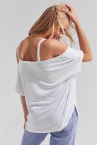 Silence & Noise Silence + Noise Split-Cut Cold Shoulder Tee