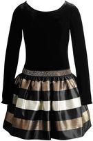 Youngland Girls 4-6x Velvet Glitter Striped Dress