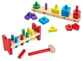 Melissa & Doug Classic Wooden Toy Bundle - Pound-A-Peg, Stack and Sort Board