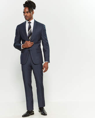 DKNY Two-Piece Blue Twill Suit