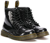 Dr. Martens Kids glittered lace-up ankle boots