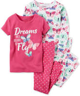 Carter's 4-Pc. Butterfly Dreams Cotton Pajama Set, Toddler Girls (2T-5T)