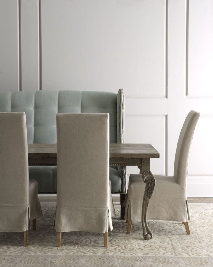 "Haute House Liday"" Dining Table, ""Havana"" Chairs, & ""Corbin"" Banquette"