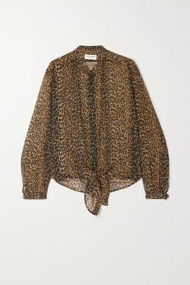 Saint Laurent Leopard-print Wool-gauze Shirt - Leopard print