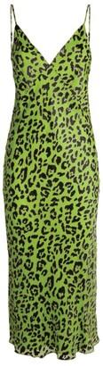 Olivia von Halle Silk Issa Cheetah Print Slip Dress