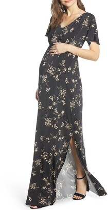 Tiffany Rose Floral Maternity Maxi Dress