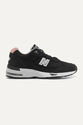 New Balance 991 Suede, Mesh And Leather Sneakers - Black