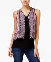 Amy Byer Juniors' Printed Layered Tank Top