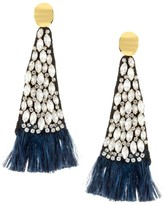 Lizzie Fortunato 18K Goldplated Feather Fringe Drop Earrings