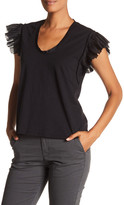 Rebecca Taylor Pleated Short Sleeve Jersey