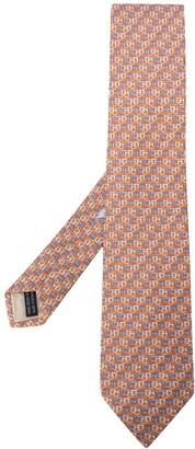 Salvatore Ferragamo Gancini-print silk tie