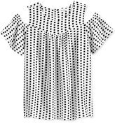 Monteau Polka Dot Cold Shoulder Top, Big Girls (7-16)