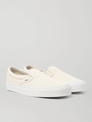 Vans OG Classic LX Canvas Slip-On Sneakers - Men - White