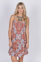 Raga Sunset Gold Strappy Dress