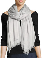 Rag & Bone Buckley Striped Scarf with Fringed Edges, Light Gray