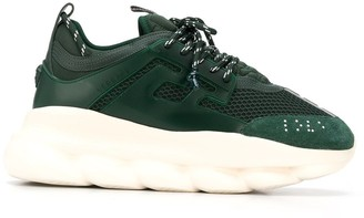 Versace Chain Reaction panelled sneakers